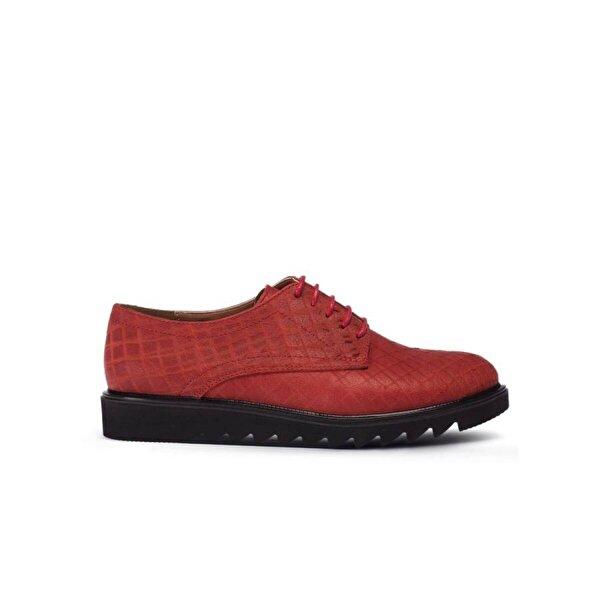 Deery Hakiki Deri Kırmızı Günlük Kadın Ayakkabı