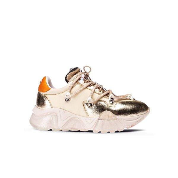 Deery Altın Rengi Sneaker Kadın Ayakkabı