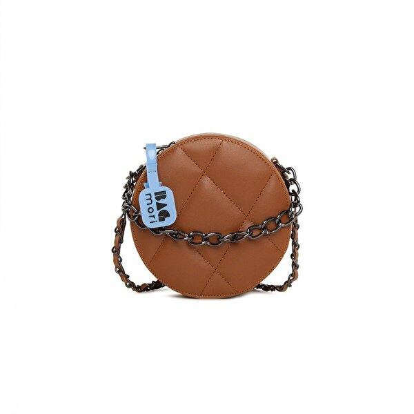 Bagmori Örme Zincirli Nakışlı Mini Davul Çanta