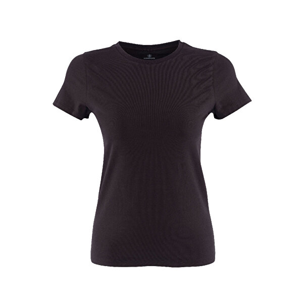Lumberjack CT129 BASIC C NECK T-SHIR Siyah Kadın T-Shirt
