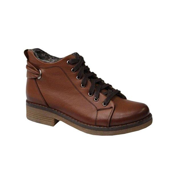 Mehmet Mete 0826 Taba Hakiki Deri Bayan Ayakkabı Bot