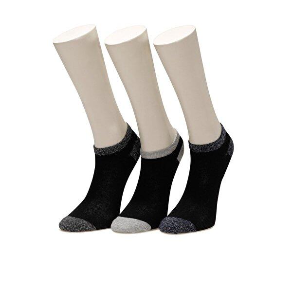 Miss F LUREX 3 LU PTK-W 1FX Siyah Kadın Çorap