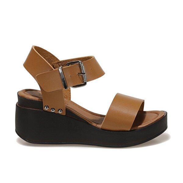 Butigo 20S-528C1FX Taba Kadın Dolgu Topuklu Sandalet