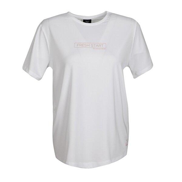 Kinetix SN274 NINA T-SHIRT Beyaz Kadın Kısa Kol T-Shirt