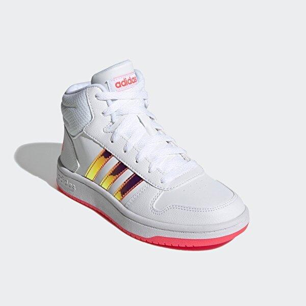 adidas HOOPS MID 2.0 K Beyaz Kız Çocuk Sneaker Ayakkabı