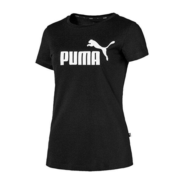 Puma ESS LOGO TEE Siyah Kadın Kısa Kol T-Shirt