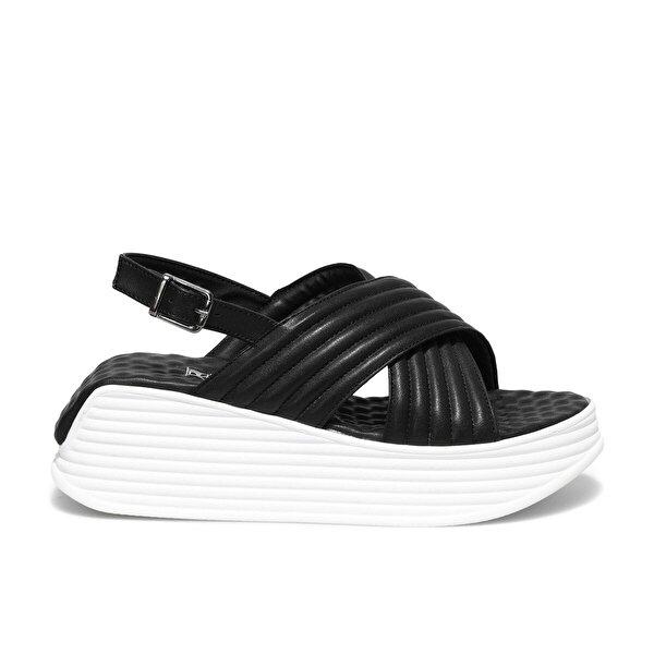 Butigo ANKA 1FX Siyah Kadın Sandalet