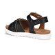 Polaris 71.509143.F Siyah Kız Çocuk Sandalet