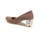 Miss F DS17027 Bej Kadın Dress Ayakkabı