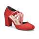 Miss F DS18123 Kırmızı Kadın Dress Ayakkabı