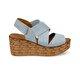 Butigo NUDE*68Z Açık Mavi Kadın Sandalet