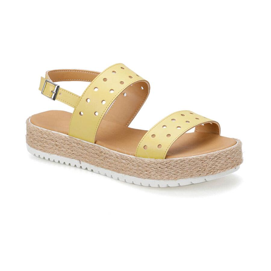 Art Bella CS19137 Sarı Kadın Sandalet
