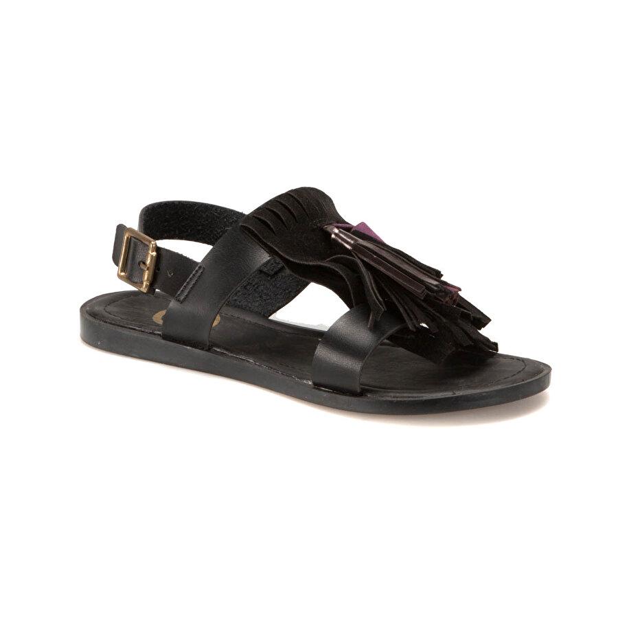 Miss F DS17042 Siyah Kadın Klasik Ayakkabı