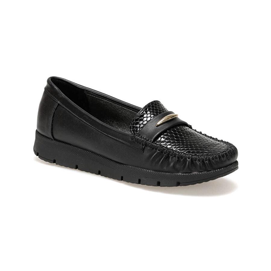 Polaris 72.158013.Z Siyah Kadın Loafer Ayakkabı