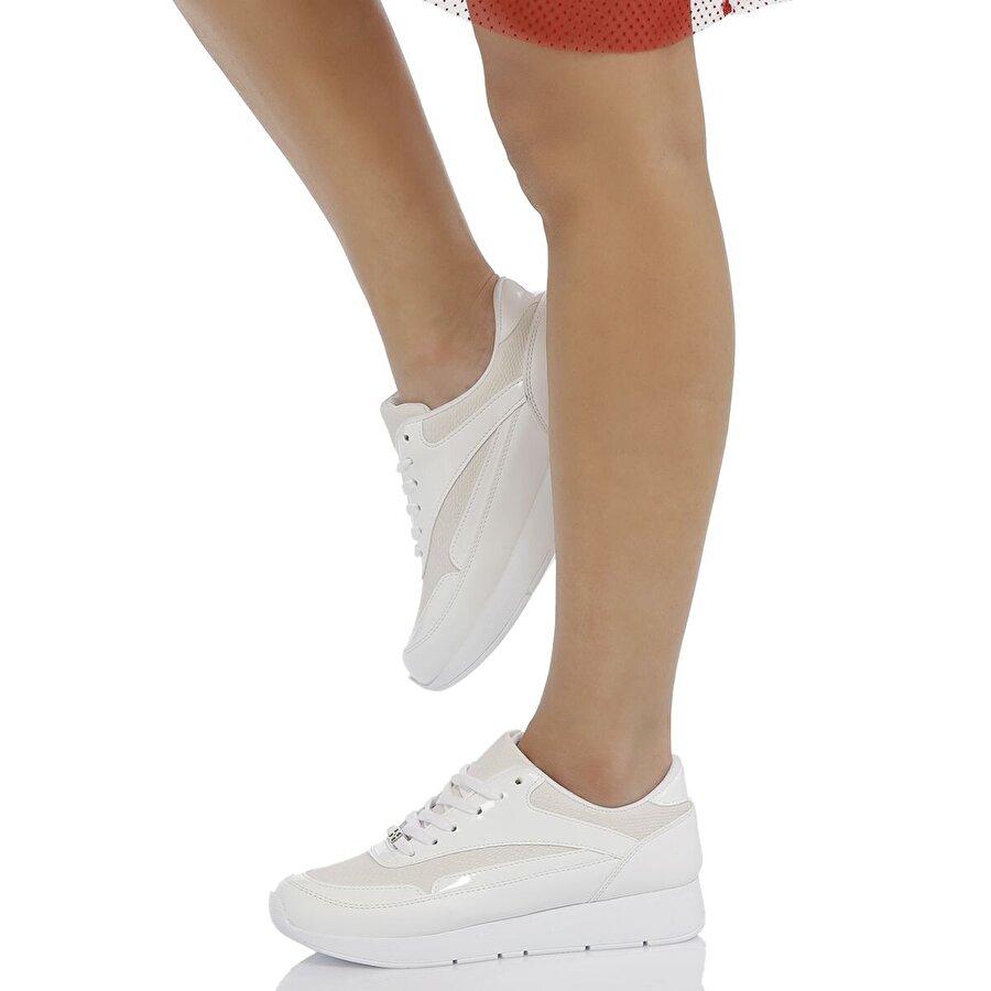 Butigo S1115 Beyaz Kadın Spor Ayakkabı