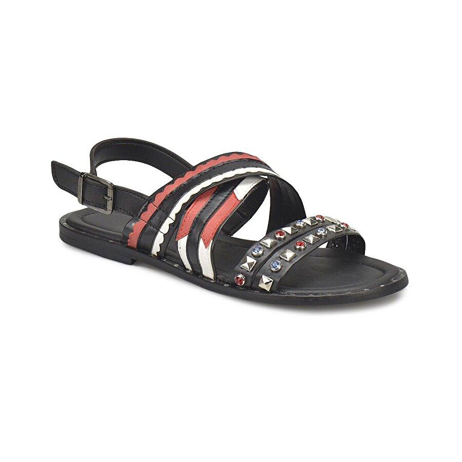 Miss F DS18054 Siyah Kadın Klasik Ayakkabı
