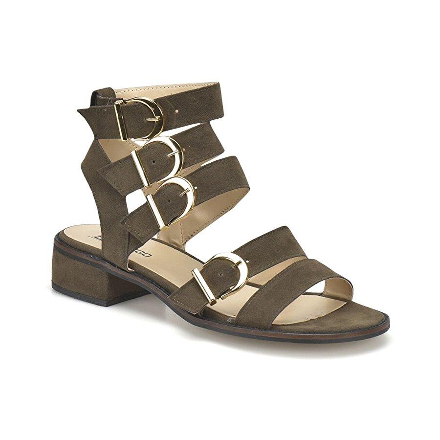 Butigo DS18073 Haki Kadın Klasik Ayakkabı