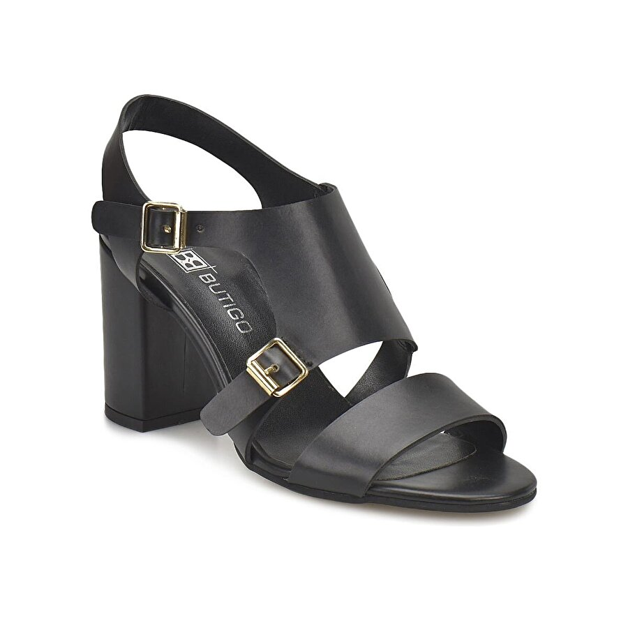 Miss F DS18077 Siyah Kadın Klasik Ayakkabı