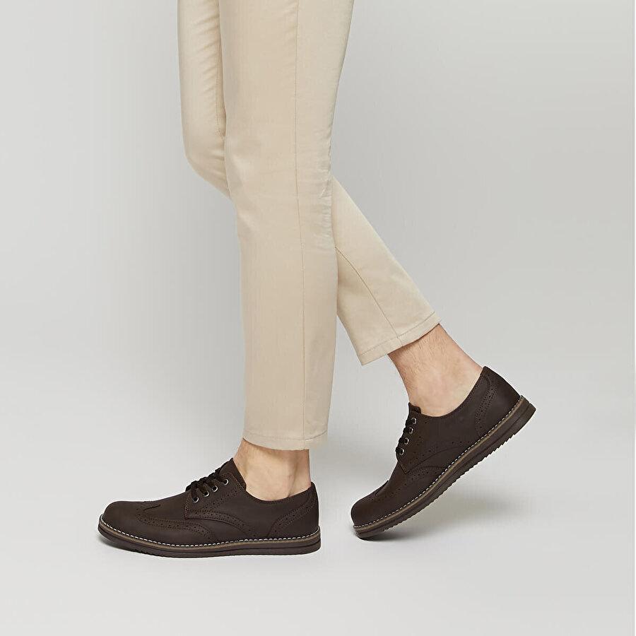 Polaris 91.353617.M Kahverengi Erkek Klasik Ayakkabı