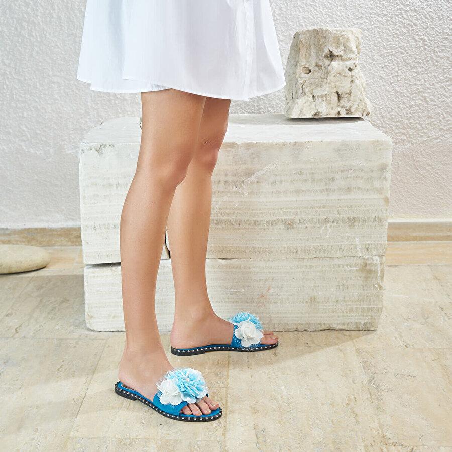 Butigo MEKE67Z Mavi Kadın Terlik