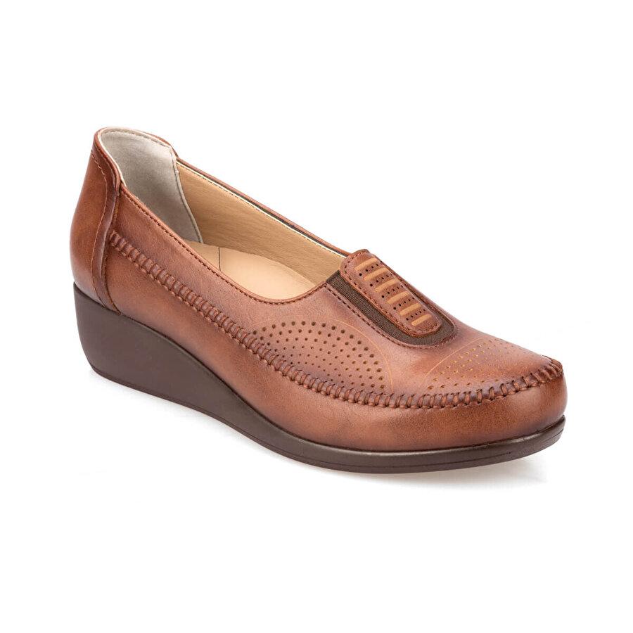 Polaris 5 Nokta 91.111028.Z Taba Kadın Zımbalı Ayakkabı