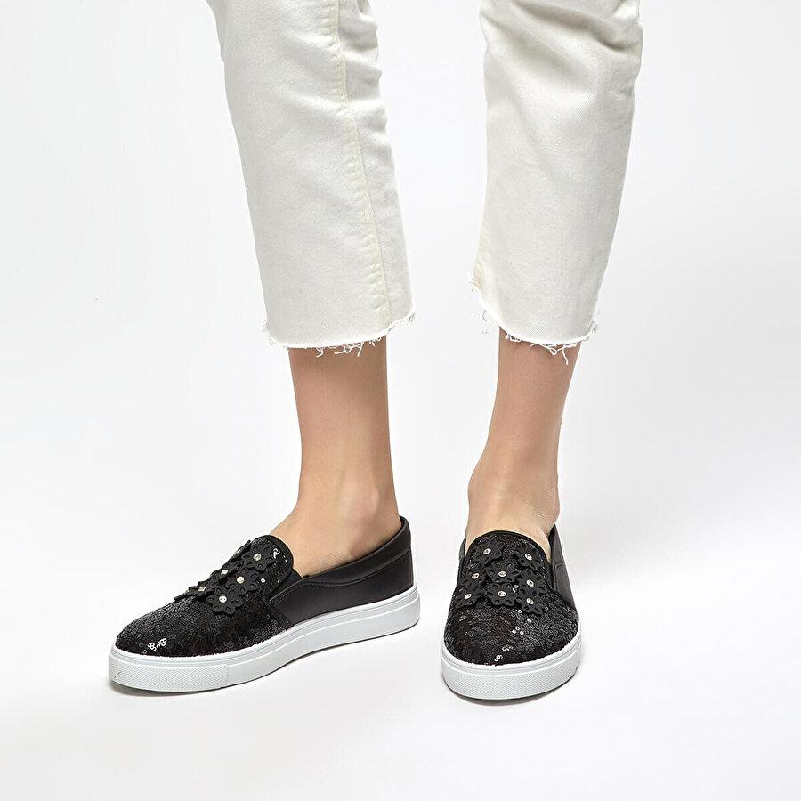 Art Bella CS18122-19S Siyah Kadın Slip On Ayakkabı