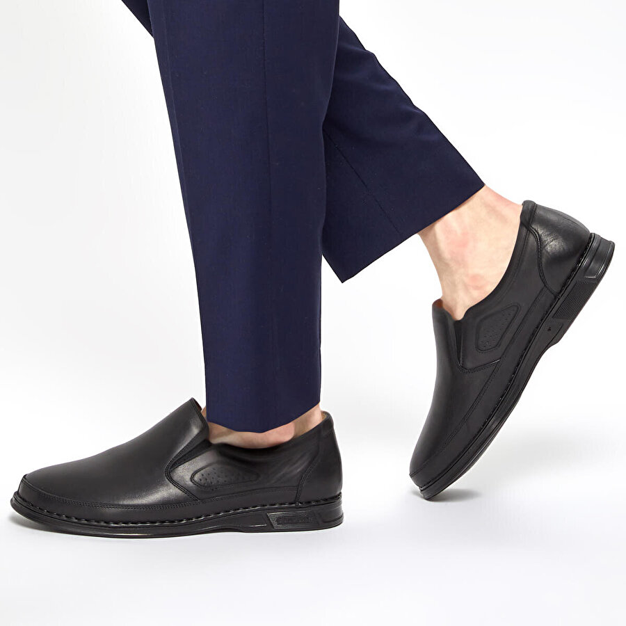 Polaris 5 Nokta 91.100552.M Siyah Erkek Comfort Ayakkabı