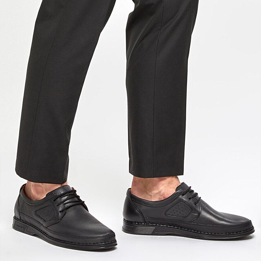 Polaris 5 Nokta 91.100581.M Siyah Erkek Klasik Ayakkabı