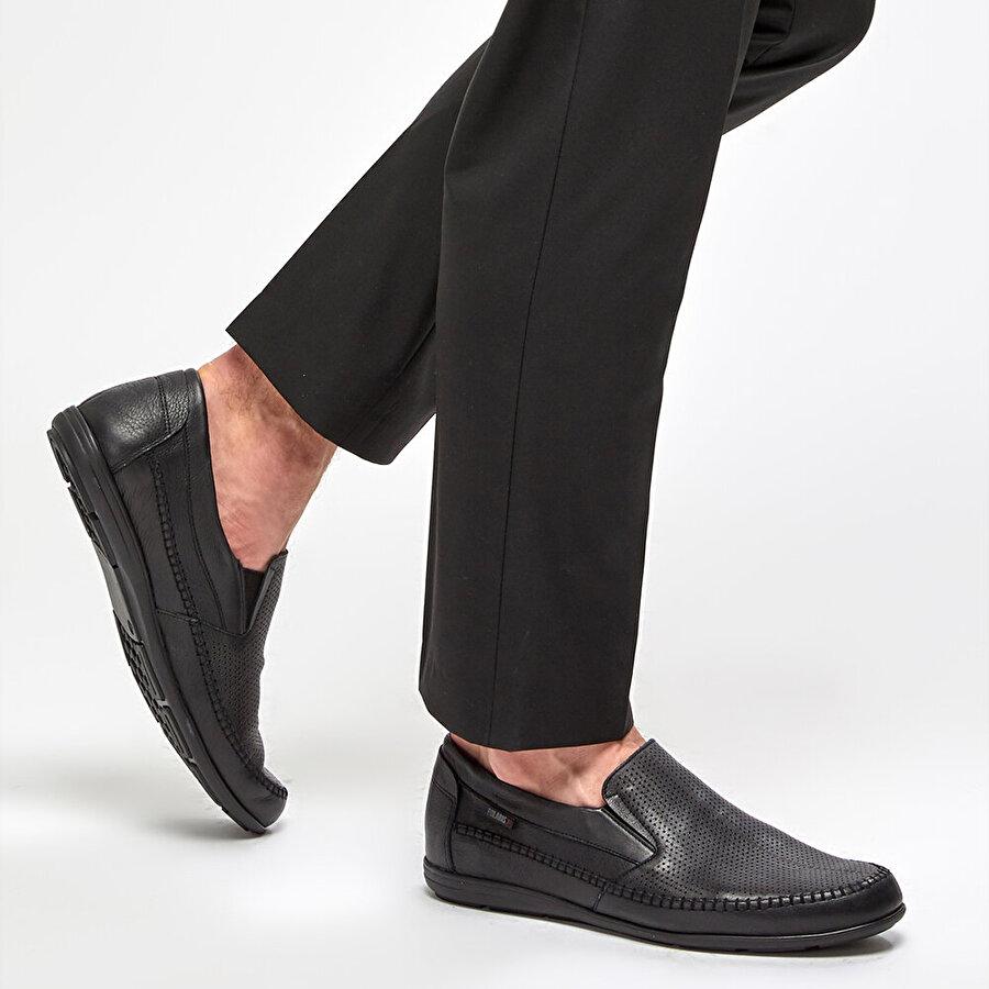 Polaris 5 Nokta 91.100500.M Siyah Erkek Klasik Ayakkabı