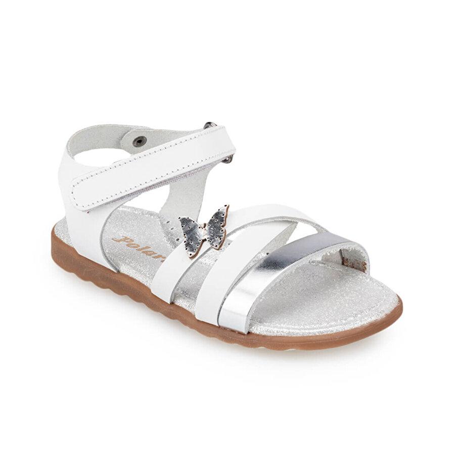 Polaris 91.511358.B Beyaz Kız Çocuk Sandalet