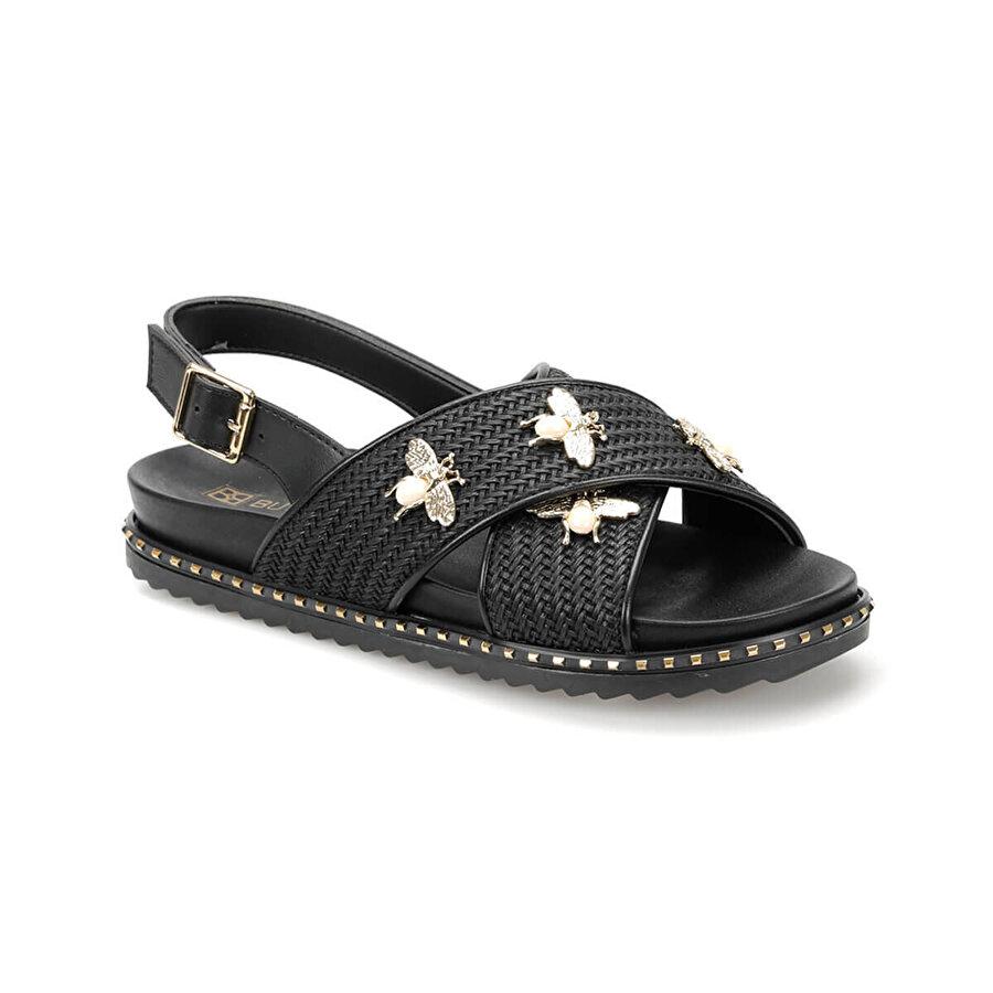 Butigo 19S-242 Siyah Kadın Sandalet