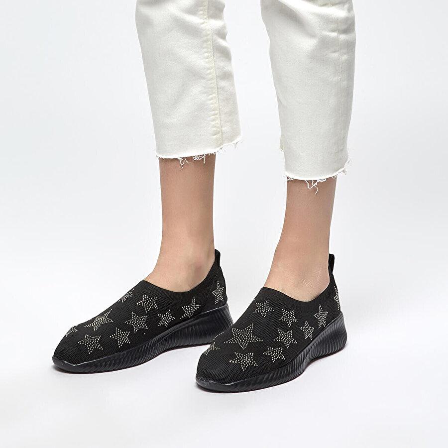 Butigo 19S-290 Siyah Kadın Slip On Ayakkabı