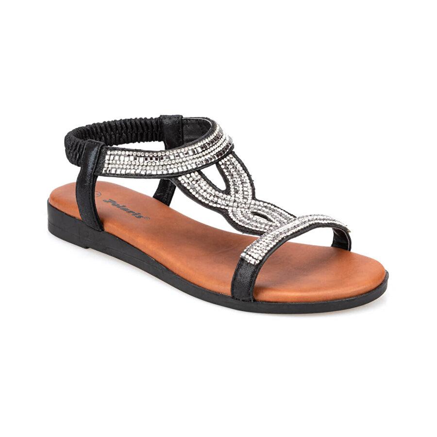 Polaris 91.311517.Z Siyah Kadın Düz Sandalet