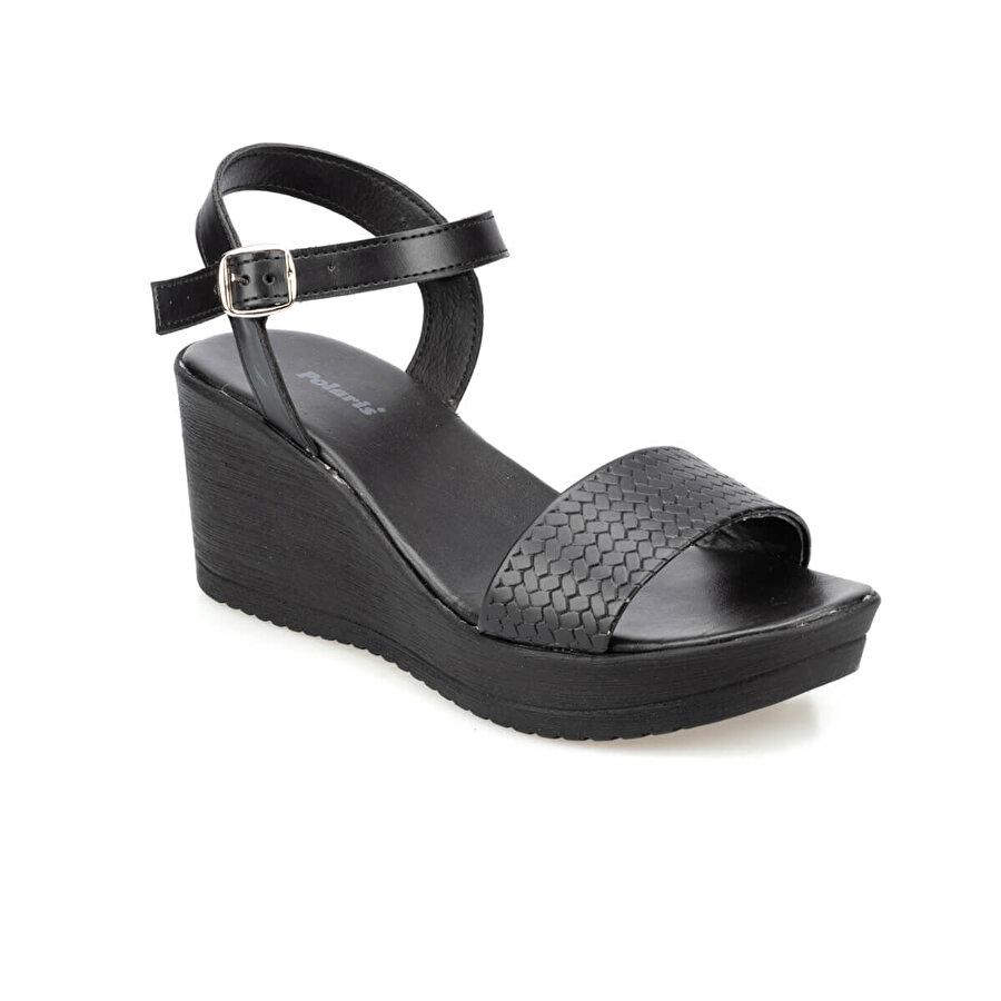 Polaris 91.313255.Z Siyah Kadın Sandalet