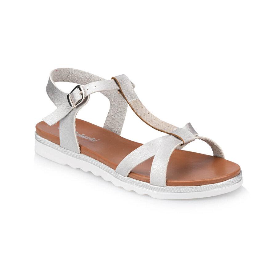 Polaris 91.311491.Z Gümüş Kadın Sandalet