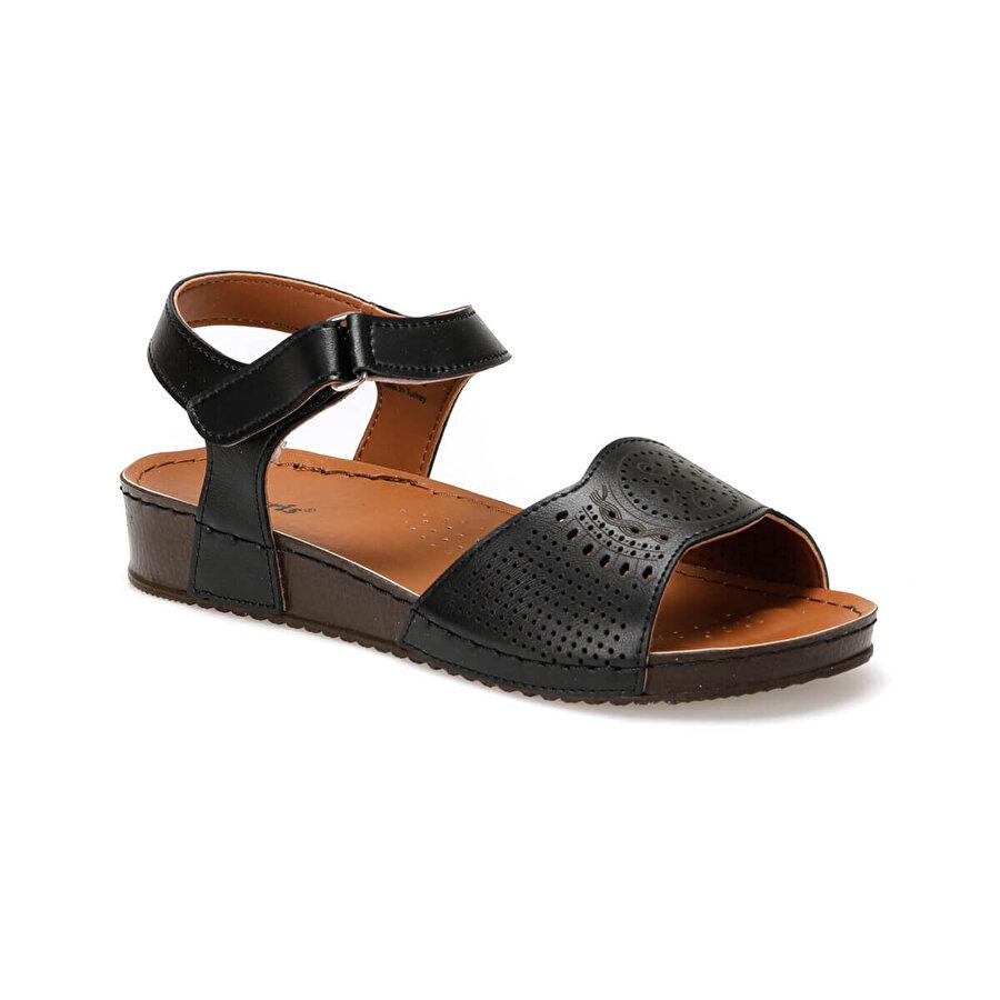 polaris 91.157373.Z Siyah Kadın Sandalet