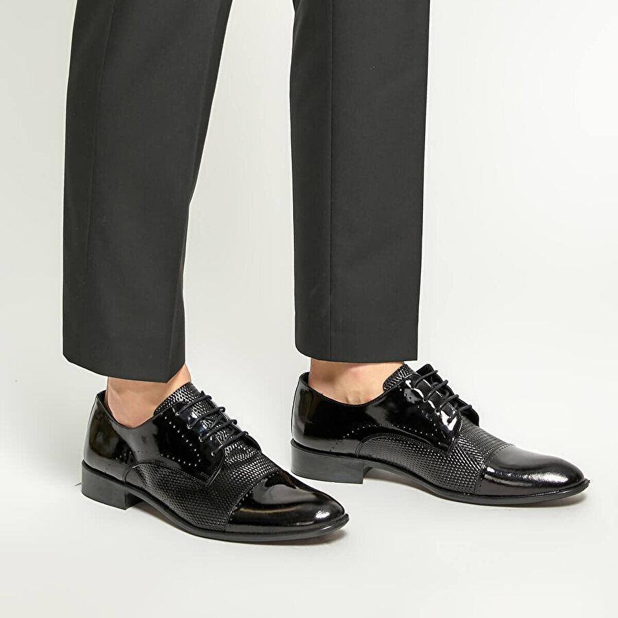 Garamond 1776-1 Siyah Erkek Ayakkabı