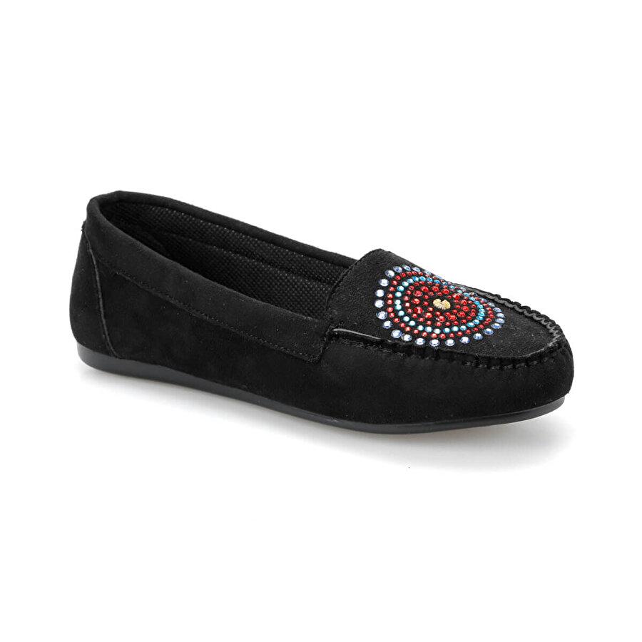 Miss F DS19038 Siyah Kadın Loafer Ayakkabı