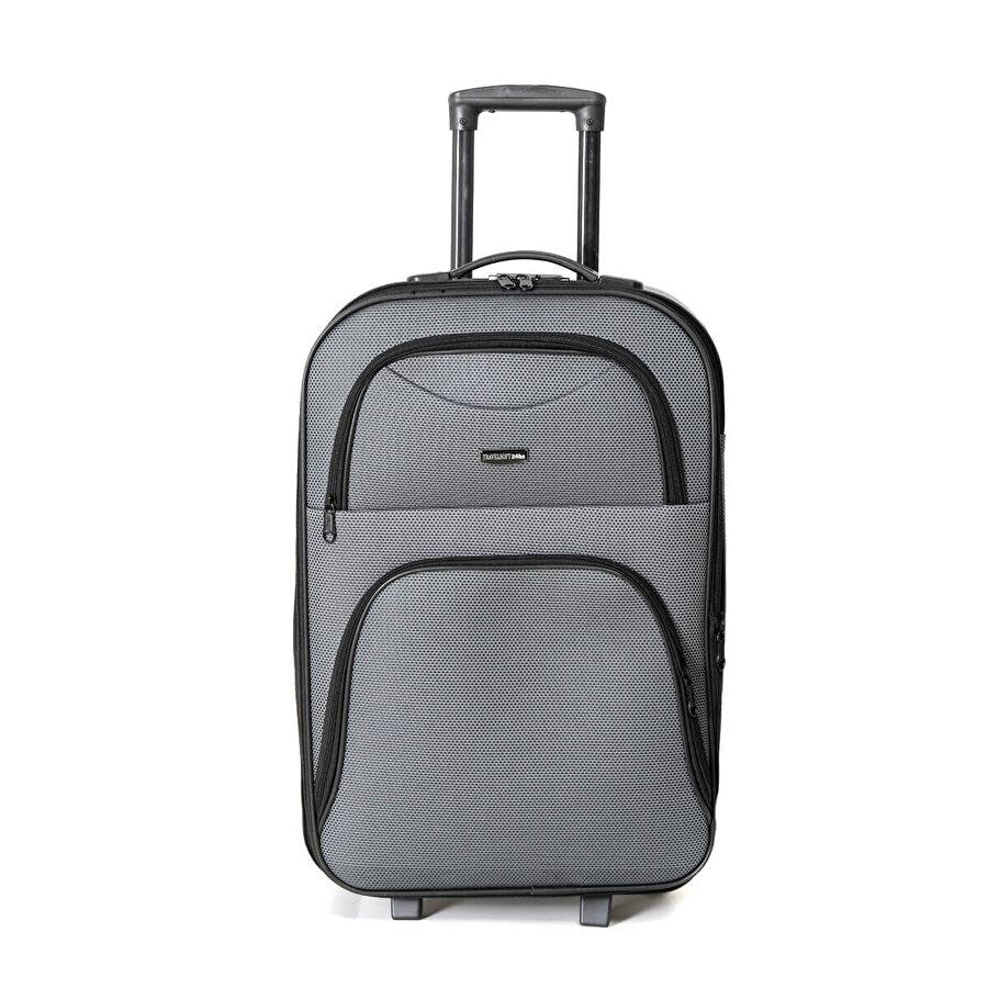 Travel Soft U KMR 6001-O Füme Unisex Orta Valiz