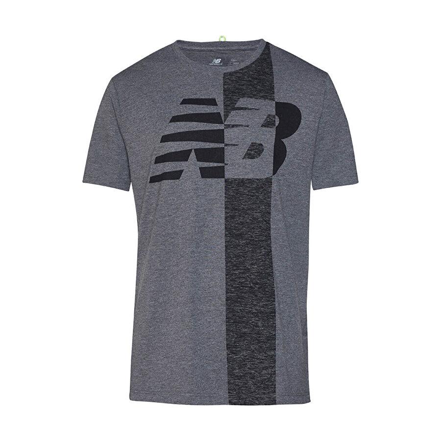 New balance NB MELANGED LOGO TEE Antrasit Erkek T-Shirt