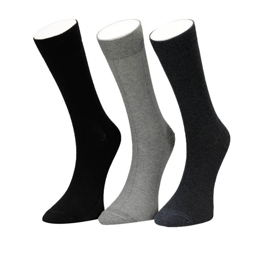 Garamond MESH 3 LÜ SKT-M Lacivert Erkek Soket Çorap