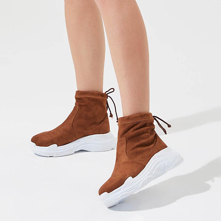 Butigo RIHANNA K17Z SÜET Taba Kadın Sneaker Ayakkabı