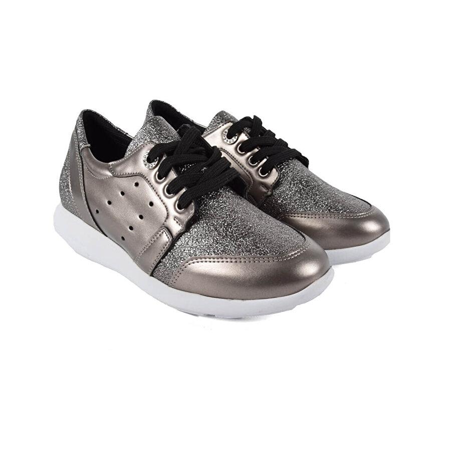 Kuum KZ2402-18 Gümüş Kadın Ayakkabı