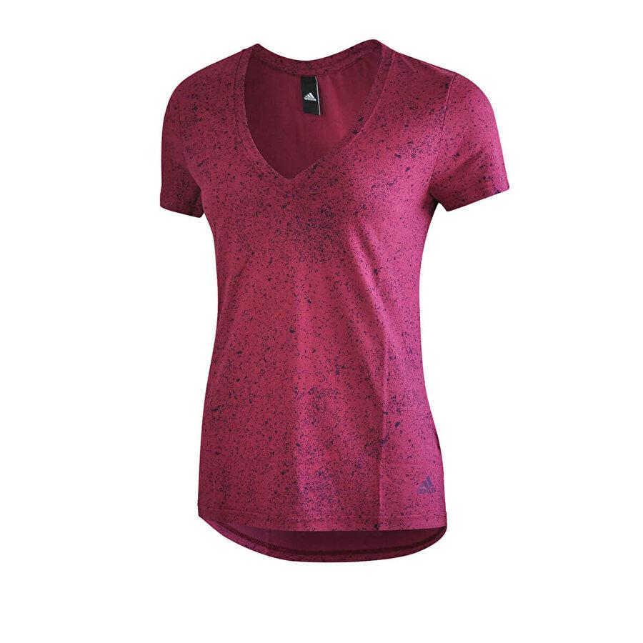 adidas FLECKS Bordo Kadın Kısa Kol T-Shirt