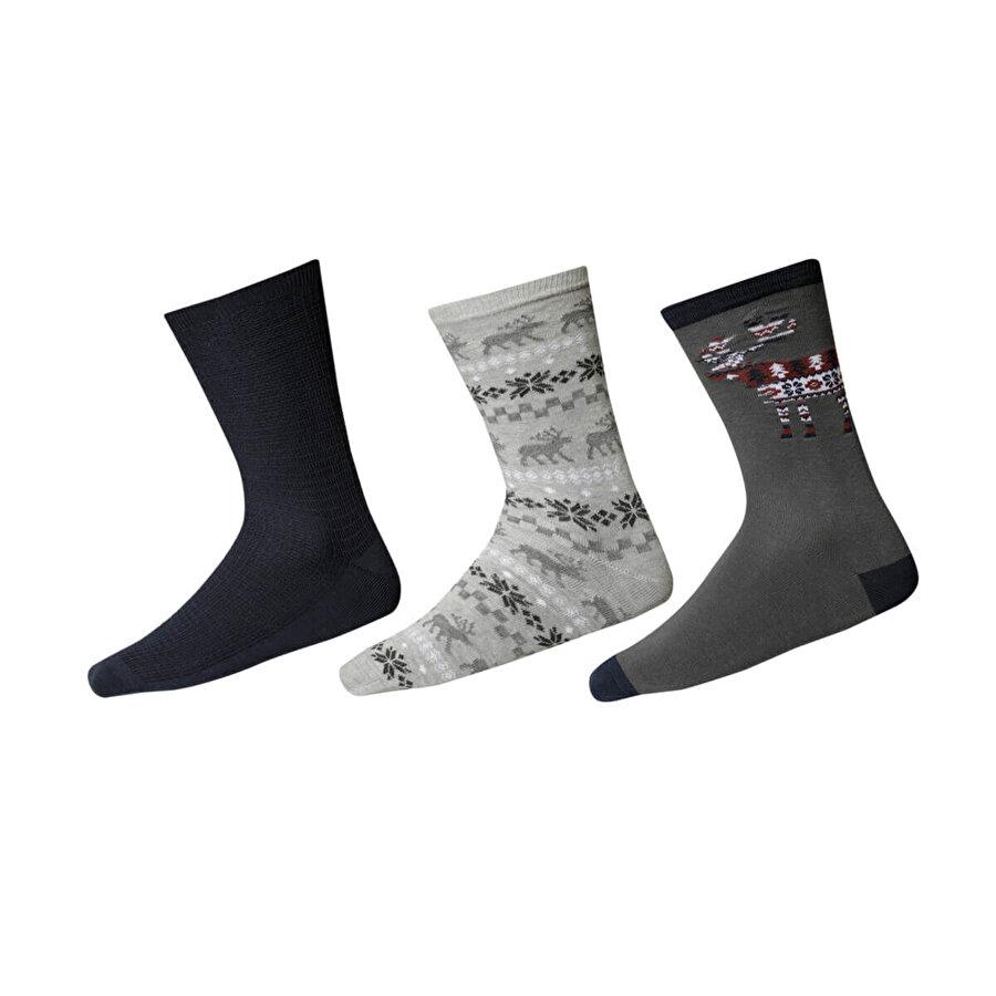 Fiyaka FYK 44 Gri Erkek Soket Çorap