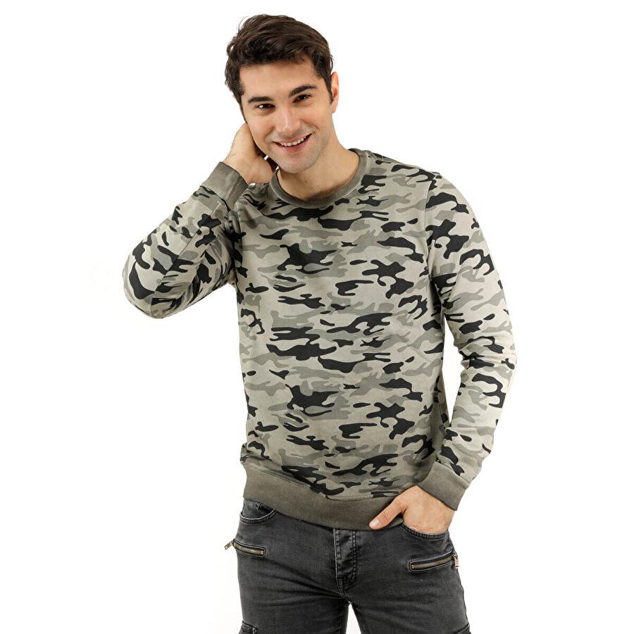 Phazz Brand 85423 Kamuflaj Erkek Sweatshirt