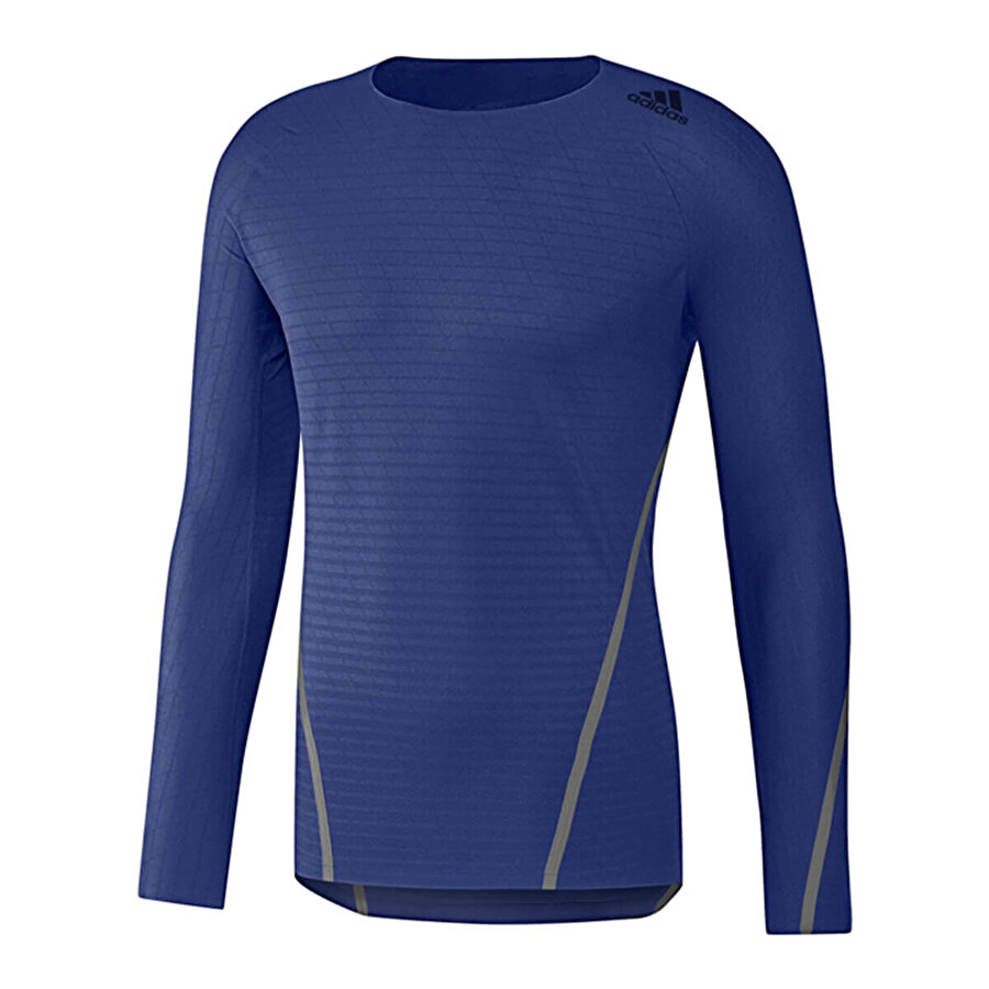 adidas ALPHASKIN 360 Mavi Erkek Uzun Kol T-Shirt