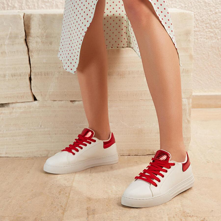 Butigo GEMI01Z CİLT Beyaz Kadın Sneaker Ayakkabı
