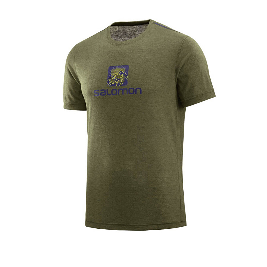 Salomon EXPLORE GRAPHIC SS TEE M Yeşil Erkek Kısa Kol T-Shirt
