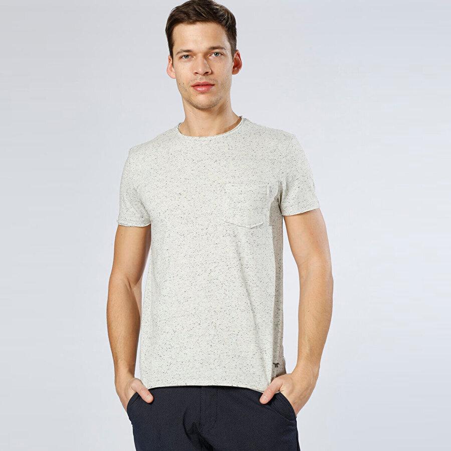 Mustang 04-M00180-130 Beyaz Erkek Kısa Kol T-Shirt